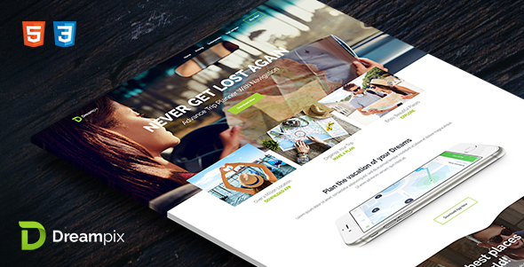 Dreampix - HTML Template - Landing Pages Marketing TFx Kirby Tate