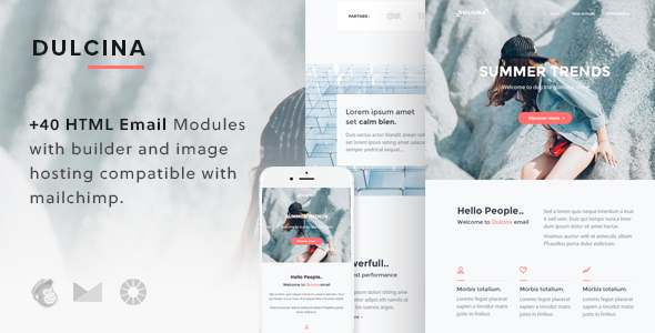 Dulcina - Responsive Email Template + Builder - Email Templates Marketing TFx Judd Sylvanus