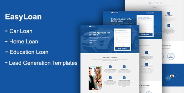 EasyLoan - Loan Company Website Templates - Marketing Corporate TFx Kory Vern