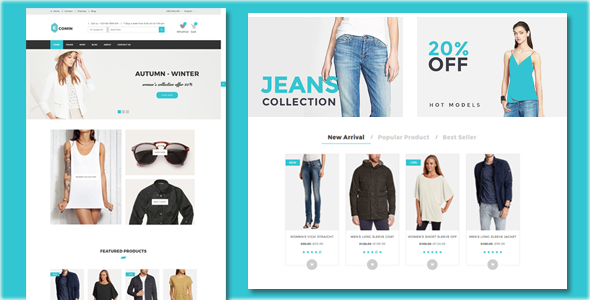 Ecomin – Responsive Ecommerce Html5 Template – Shopping Retail TFx Clint Maximillian