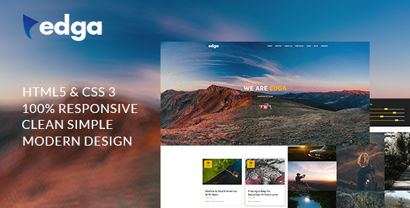 Edga - One Page Creative HTML Template - Creative Site Templates TFx Sampson Cyan