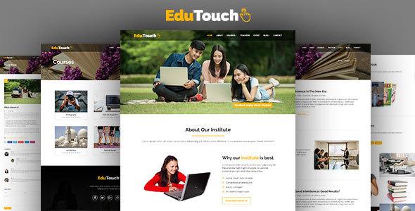 EduTouch - Education Responsive Template - Nonprofit Site Templates TFx Sidney Brad