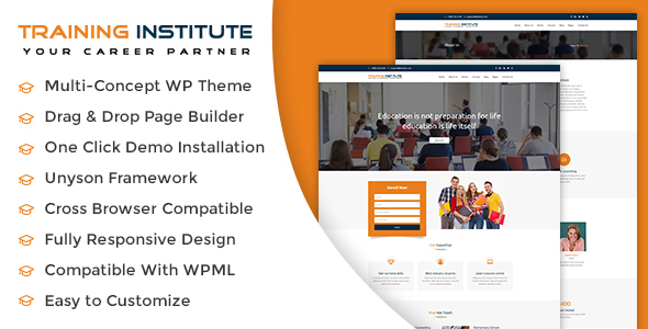 Education & Training Institute WordPress Theme - Education WordPress TFx Spartak Conrad