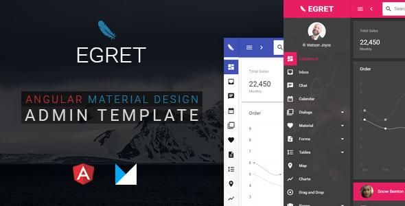 Egret – Angular 4 Material Design Admin Template – Admin Templates Site Templates TFx Yuda Mervin