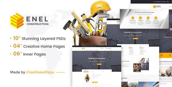 Enel - Construction & Building Business PSD Template - Business Corporate TFx Cajetan Jervis