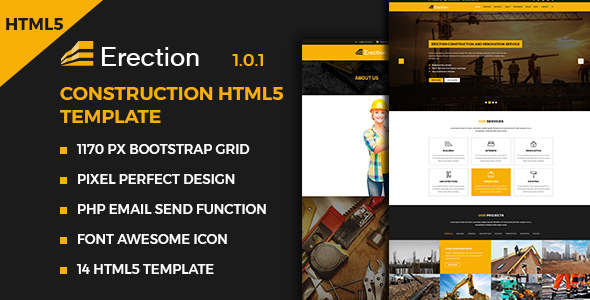 Erection - Construction Multipurpose HTML5 Template - Business Corporate TFx Collin Lon