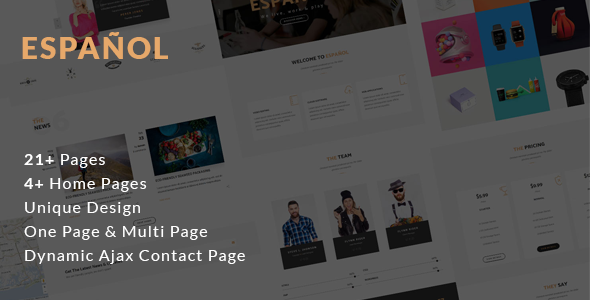 Espanol – Creative Agency Template – Creative Site Templates TFx Voski Johnathon
