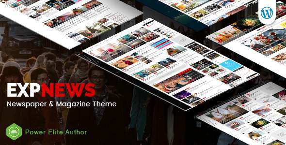 ExpNews - Responsive Newspaper and Magazine WordPress Theme - Blog / Magazine WordPress TFx Bob Giles