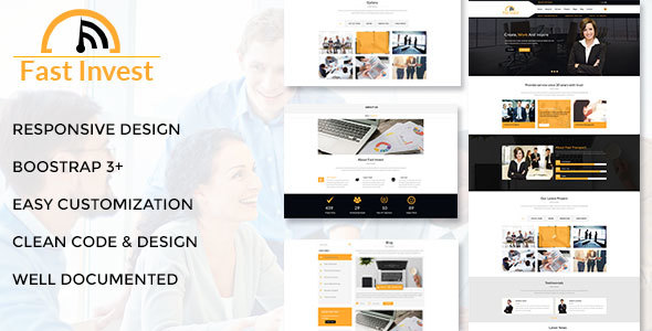 Fast Invest Multipurpose Business Template - Business Corporate TFx Harmon Jack