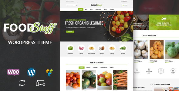 Food Stuff - Multipurpose WooCommerce Theme - WooCommerce eCommerce TFx Pacey Jeffry