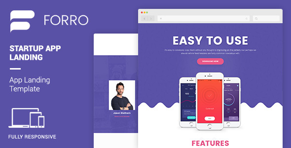 Forro | Mobile App Landing Template – Technology Site Templates TFx Carl Marlon