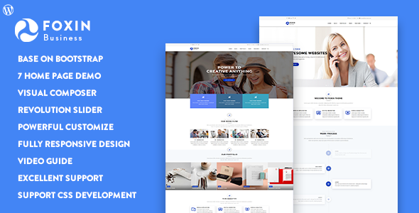 Foxin - Responsive Business WordPress Theme - Business Corporate TFx Mansel Ripley