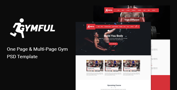 GYMFUL – One and Multi-page Gym, Yoga Fitness PSD Template with shop – Health & Beauty Retail TFx Glenn Riley
