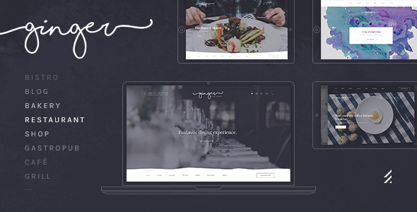 Ginger: A Modern Multi-Purpose Restaurant WordPress Theme - Restaurants & Cafes Entertainment TFx Shin Sidney