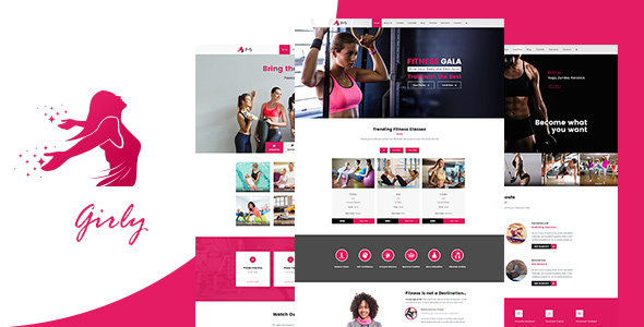 Girly | Women Fitness WordPress Theme - Health & Beauty Retail TFx Jaron Sidney