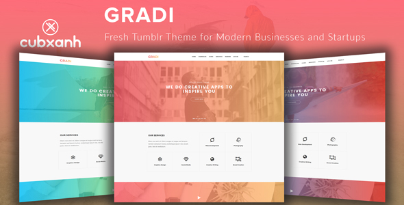 Gradi - Fresh Tumblr Theme for Modern Businesses and Startups - Business Tumblr TFx Gurgen Theodoric