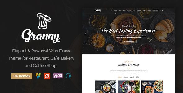Granny - Elegant Restaurant & Cafe WordPress Theme - Restaurants & Cafes Entertainment TFx Harlow Osborn
