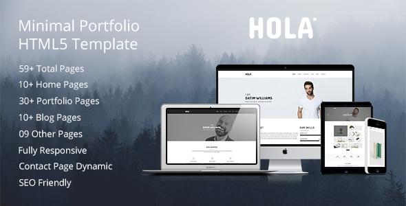 HOLA - Minimal Portfolio HTML5 Template - Creative Site Templates TFx Marshal Johnie