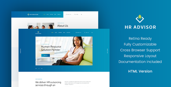 HR Advisor & Business Consulting HTML Template - Business Corporate TFx Jimmie Delbert