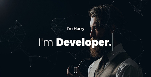Harry - Personal One Page - Personal Site Templates TFx Yuki Willis
