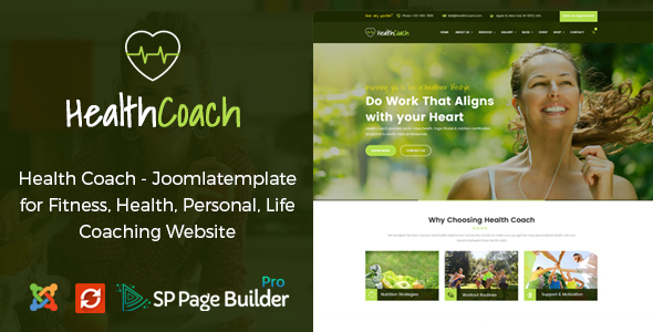 Health Coach - Joomla Template for Fitness, Health, Personal Life Coaching - Health & Beauty Retail TFx Zarathustra Alex