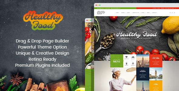 Healthy Food - Organic & Eco Restaurant WordPress Theme - Restaurants & Cafes Entertainment TFx Davin Hovhannes