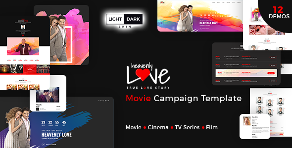 Heavenly Love – Cinema/Movie Bootstrap 3 HTML Template – Film & TV Entertainment TFx Nori Taichi