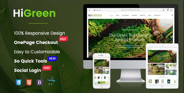 HiGreen – Multipurpose OpenCart Theme for Online Shop – OpenCart eCommerce TFx Burke Tarquin