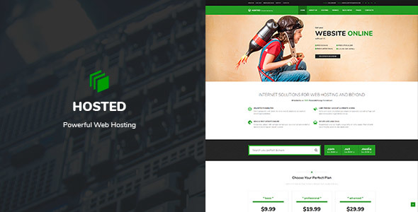 Hosted - WordPress Hosting Theme + WHMCS - Hosting Technology TFx Langdon Jordon
