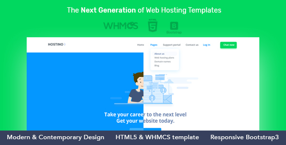 Hostino WHMCS Web Hosting WordPress Theme - Hosting Technology TFx Quanah Bennett