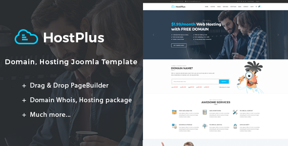 Hostplus | Domain, Hosting Joomla Template - Hosting Technology TFx Conrad Andy
