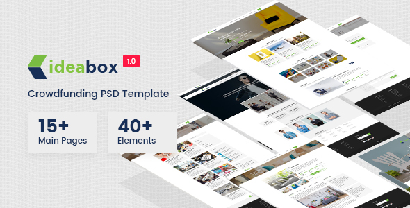 Ideabox - Crowdfunding PSD Template - Miscellaneous PSD Templates TFx Trafford Tiger
