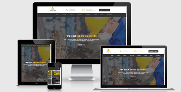 Industry- Factory Html Template - Business Corporate TFx Melvin Noboru