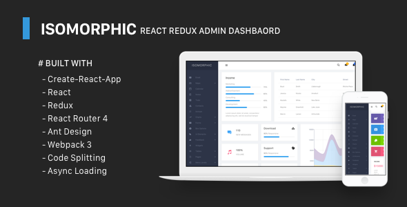 Isomorphic - React Redux Admin Dashboard - Admin Templates Site Templates TFx Godfrey Elmo