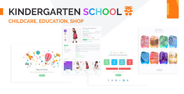 Kindergarten – Education & Institute Template – Nonprofit Site Templates TFx Clark Harlow