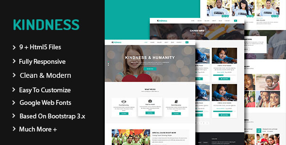 Kindness - Nonprofit, Crowdfunding & Charity HTML5 Template - Charity Nonprofit TFx Zed Lindon