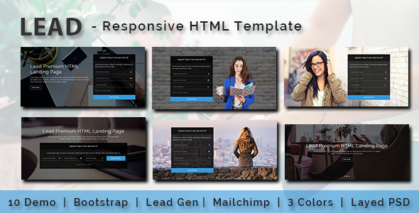 LEAD - Multipurpose Responsive HTML Landing Page - Business Corporate TFx Devon David