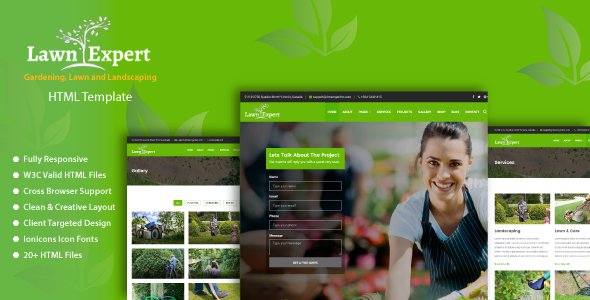 Lawn Expert - Gardening, Lawn and Landscaping HTML Template - Business Corporate TFx Gresham Malcom