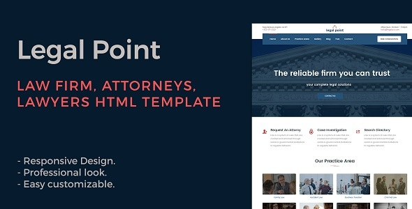 Legal Point - Law Firm, Attorney, Lawyers HTML Template - Business Corporate TFx Indiana Tiriaq