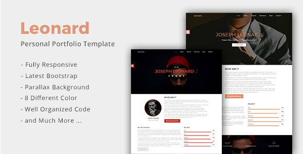 Leonard – Personal Portfolio Template – Portfolio Creative TFx Cody Alf