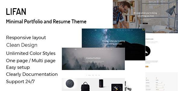 Lifan - Personal Resume and Portfolio WordPress Theme - Portfolio Creative TFx Garland Garth