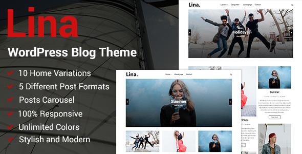 Lina - Responsive WordPress Blog Theme - Personal Blog / Magazine TFx Geoffrey Caleb