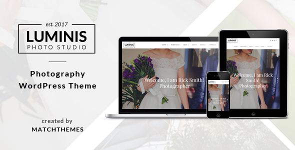Luminis - Photography WordPress Theme for Photographers - Photography Creative TFx Gusti Buster