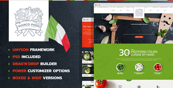 MarcoPolo - Restaurant and Food WordPress Theme - Food Retail TFx Ken Charley