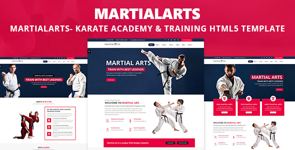 MartialArts- Responsive Template for Karate Academy & Martial Arts Training - Health & Beauty Retail TFx Alvin Bailey