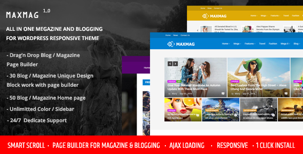 Maxmag - Magazine and Blogging WordPress Theme - News / Editorial Blog / Magazine TFx Dax Walton