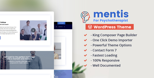 Mentis Psychotherapist WordPress Theme - Health & Beauty Retail TFx Shinobu Xavier