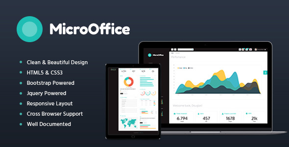 Micro Office | HTML Admin Template - Admin Templates Site Templates TFx Brand Nicky
