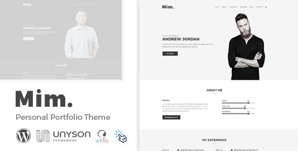 Mim - Personal Portfolio WordPress Theme - Portfolio Creative TFx Carloman Donovan