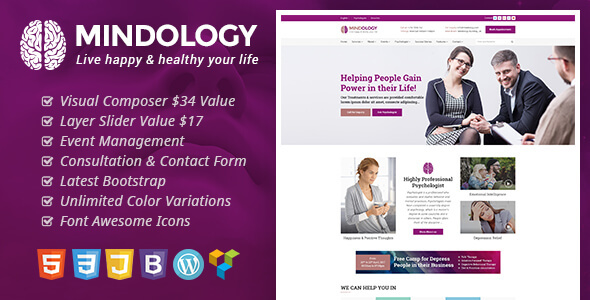 Mindology - Psychology WordPress Theme for Psychologist and Mental Health Websites - Health & Beauty Retail TFx Deforest Mel